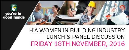 HIA Women in Building Industry Luncheon Nov 2016 Brisbane PCG News Update