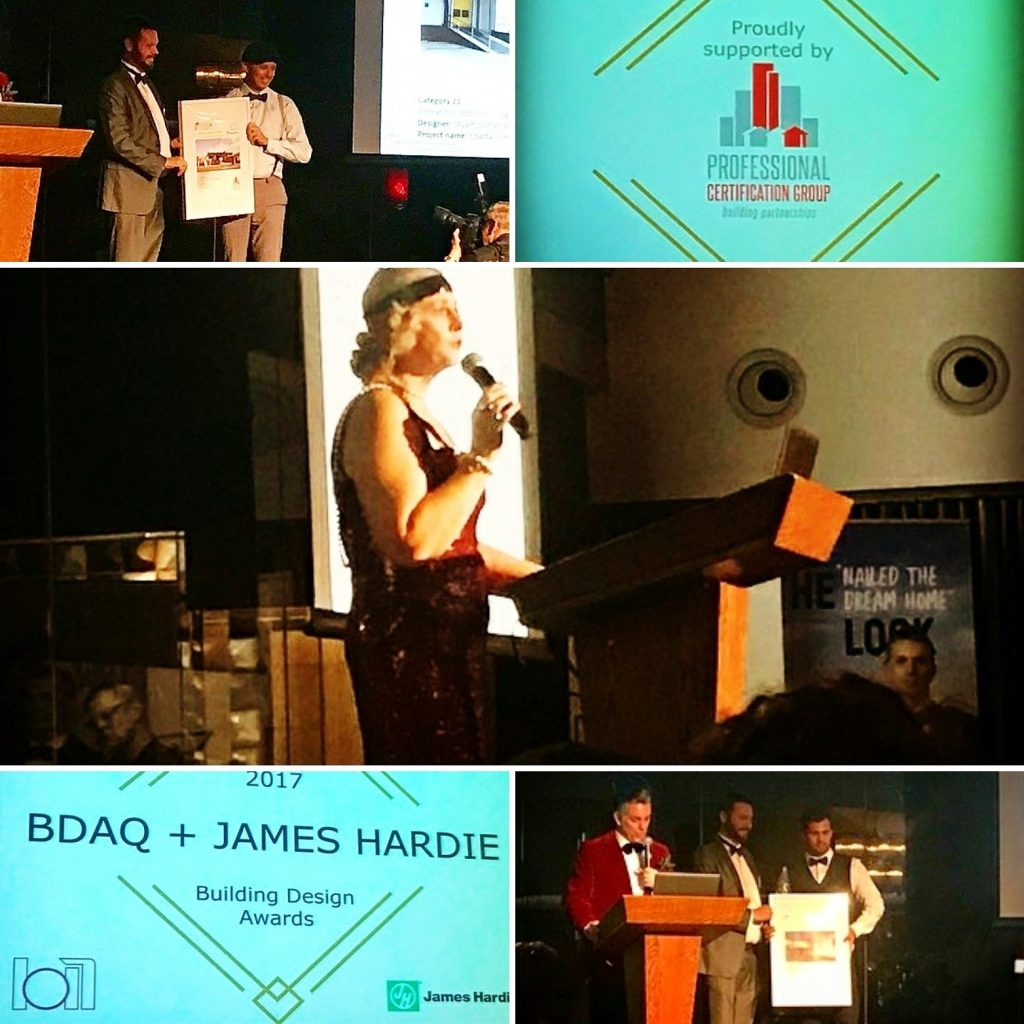 Professional Certification Group at BDAQ State Awards Presenting Awards Cr Jenny Owen